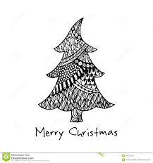 drawn tree christmas pencil and in color drawn tree christmas