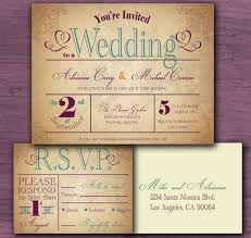 vintage wedding invitation sample set cottontail digital press