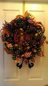 Deco Mesh Halloween Wreath Ideas by 187 Best Fall Deco Mesh Wreath Images On Pinterest Autumn