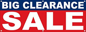 big clearance sale signs banners 5 x 2 retail store