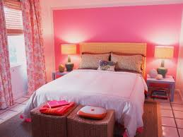 bedroom small pink bedroom with white comfort bed and brown bedroom small pink bedroom with white comfort bed and brown pillows also drum shaped brown table lamps plus brown rattan bench seat also pink fabric