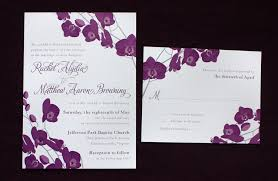 Wedding Invitations Purple Purple U0026 Gray Orchid Floral Wedding Invitations Emdotzee Designs