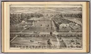 Map Central Park Central Park Farm U0026 Residence Of Geo S Park Magnolia Putnam Co