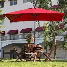 patio umbrella with solar led lights abba patio rectangular solar powered aluminum outdoor umbrella with