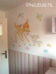 bambi muurschildering in kleur wandschilderingen pinterest baby nursery themes