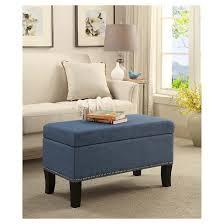 storage ottoman blue convenience concepts target