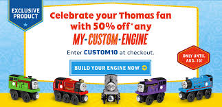 Make Your Own Wooden Toy Train by 50 Off Thomas U0026 Friends Personalized Wooden My Custom Engine