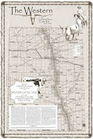 Ks Map Of Western Cattle Trail In Kansas
