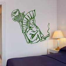 shaman smokes weed hippie person wall sticker home decoration