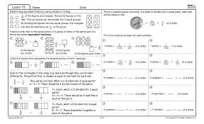 excel math identifying equivalent representations of fractions money