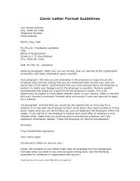 cover letter standard cover letters standard cover letters