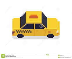 pixel art car pixel art taxi stock vector image of symbol automobile 85603184