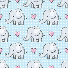 baby elephant seamless pattern cartoon stock vector art 165957201