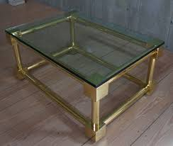 antique polished brass coffee table with glass top rt facts