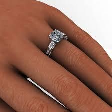 cushion ring ring 2 carat cushion cut neo moissanite engagement ring j