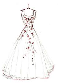 design dresses bridal shower gift wedding dress sketch gift from of