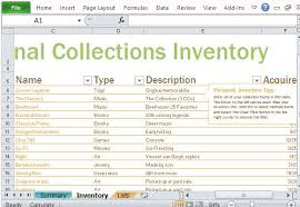 Inventory Excel Templates Personal Inventory Log Template For Excel