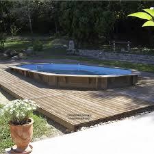 construire son jacuzzi piscine hors sol bois samoa l 5 05 x l 3 55 x h 1 2 m leroy merlin