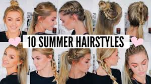 10 cute u0026 easy summer hairstyles youtube