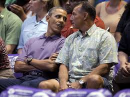 Obama Hawaii by Obama Attends Oregon State Akron Game In Hawaii