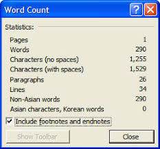 Count Words In A Text Document Microsoft Word How To Count The Number Of Words In Footnotes In