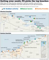 Mentor Ohio Map by Lake Erie Beach Guide Where To Find The Best Stretches Of Sand On