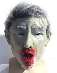 Zombie Mask Donald Trump Zombie Mask Presidential Halloween Costume Dead