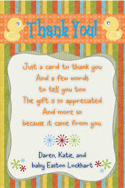 baby shower thank you note duck theme size 4x6 contact me via