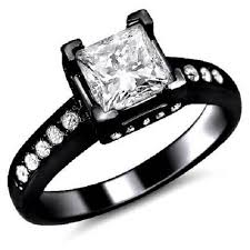 black band engagement rings black gold engagement rings for women ring beauty