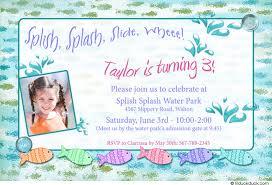 water park party invitation birthday fishy style