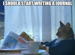 Meme Journal - after coming home each day and having a lot of stuff on my mind
