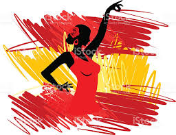 Dancing Flags Spanish Clipart Spanish Dancing Pencil And In Color Spanish