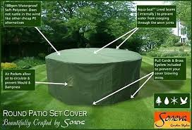 Patio Furniture Covers Amazon - large round patio garden table set polyester cover 250 cm green