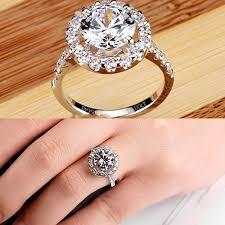 luxury engagement rings luxury small surround four pronged shining diamond wedding