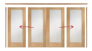 Room Divider Door - oak easi slide room divider door system