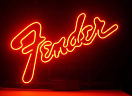 neon light font generator business custom neon sign board for fender electric bass guitar