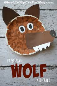 paper plate wolf kid craft red riding hood wolf and hoods