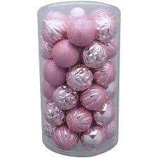 time 41 pack pink matte glitter ornaments walmart