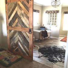 Reclaimed Wood Interior Doors Reclaimed Wood Chevron Barn Door Laelee Designs Regarding Doors