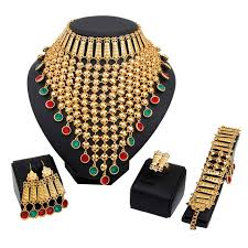 fashion jewelry necklace sets images Fashion new design african wedding bridal costume jewelry sets jpg