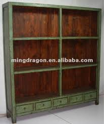 Rattan Bookcase Chinese Five Drawer Antique Old Green Bookshelf Buy Rattan