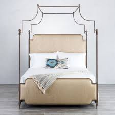 Upholstered Canopy Bed Kenton Iron Upholstered Canopy Bed With Surround By Wesley Allen