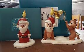 wdcc pluto s tree chip n dale santa candle