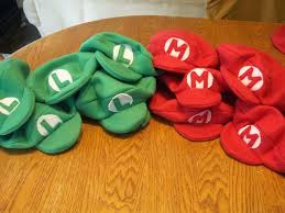 kids will love getting to wear these comfy mario and luigi party hats the only problem is your parties will never get away with having ordinary cone hats