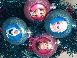 frozen glitter ornaments chica and jo