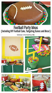 football party ideas including diy football cake tailgating