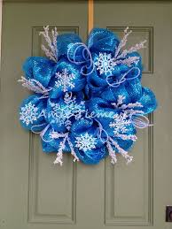 112 best blue themed wreaths images on