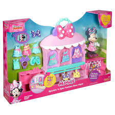 Minnie Mouse Bowtique Vanity Table Disney Minnie Mouse Sparkle U0027n Spin Fashion Bow Tique Walmart Com