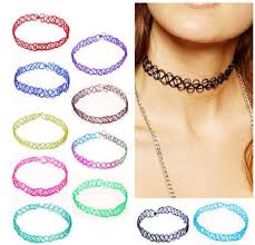 choker necklace tattoo images 12pcs set vintage stretch tattoo choker necklace punk gothic jpg