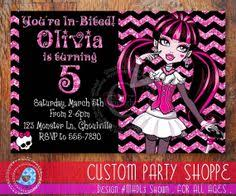 plantilla invitación draculaura monster high printables